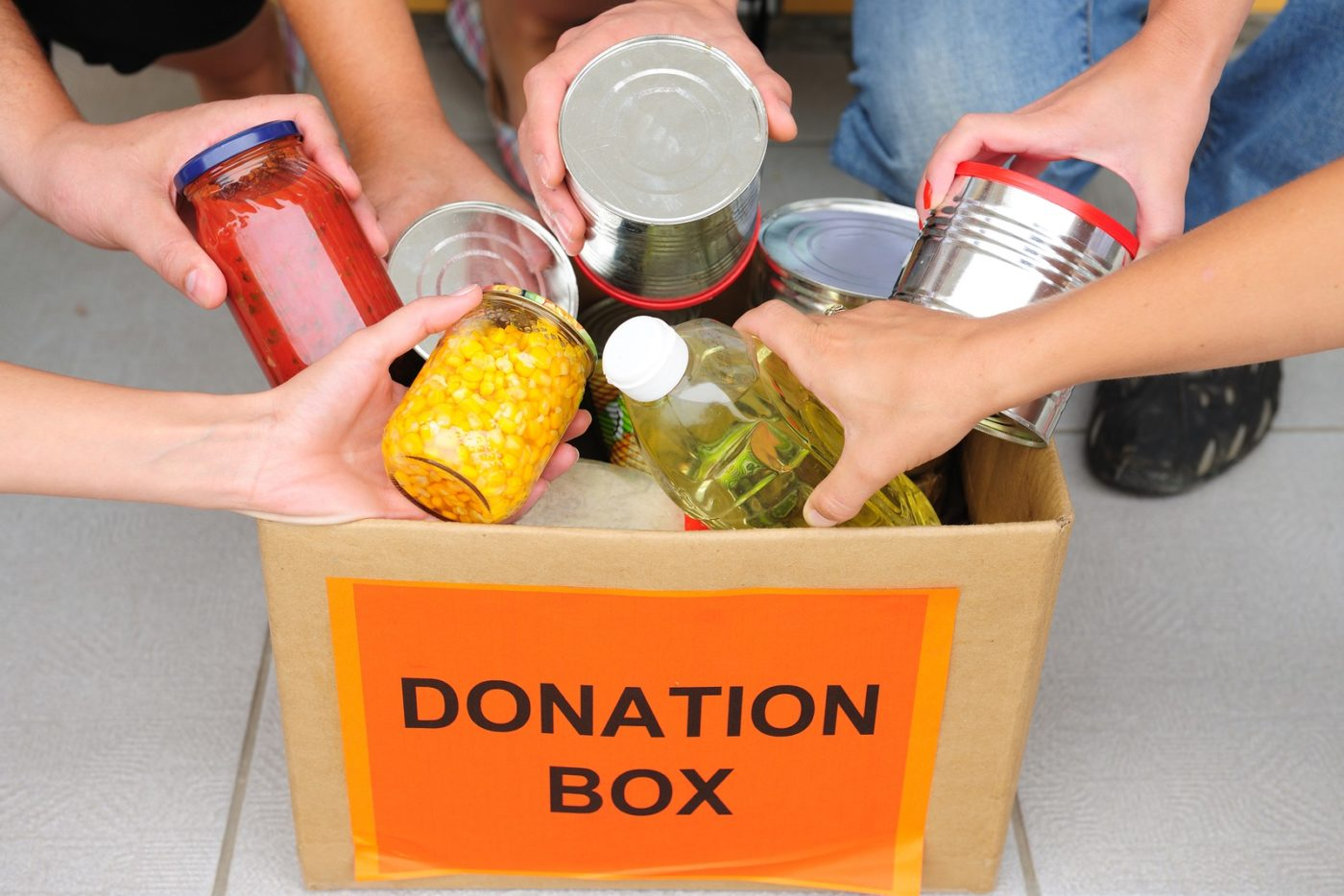 Donate food & volunteer